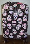 Skull Party Carryon Suitcase 21x9x13