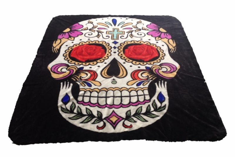 Sugar Skull New Korean Style cozy Twin size Blanket