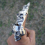 Full Finger Claw Magic Skull Medieval armor Ring Gothic Punk Rock Biker