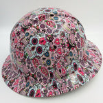 Hard Hat FULL BRIM custom hydro dipped , OSHA approved SUGAR SKULLS NEW