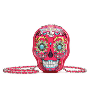 Cowgirl Trendy Sugar Skull Calavera Day of The Dead Crossbody Handbag Messenger