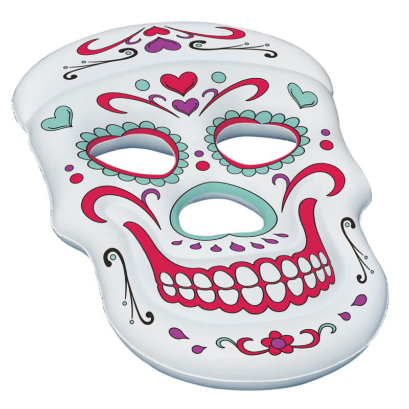 Swimline Giant Inflatable 62-Inch Sugar Skull Swimming Pool Island Raft