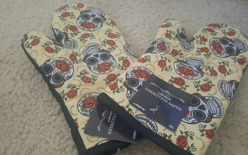 Sugar Skull Oven Mitts