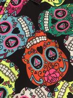 Sugar Skull Leggings Size Large L Day Of The Dead Halloween No Boundaries