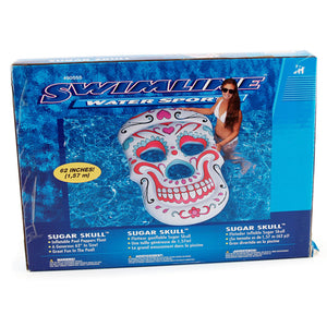 Swimline Water Sports Sugar Skull Inflatable Pool Peppers Float 62 Inches