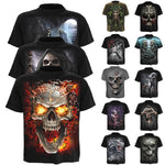 3D Print Funny Skull Men Women T Shirt