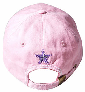 Womens Multi Color Sugar Skull Baseball Bling Stone Trendy Fashion Hat-Pink