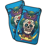 Owl Sugar Skull 2 Piece Carpet Car Floor Mat Set New