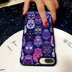 Candy Sugar Skull Pattern Hard Case Cover Skin ForiPhone X 8 7 6 Plus Samsung