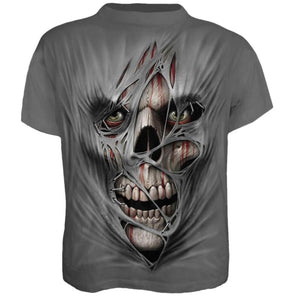 Mens Halloween 3D Print Skull Skeleton T-shirts Tops Short Sleeve Casual Tee US
