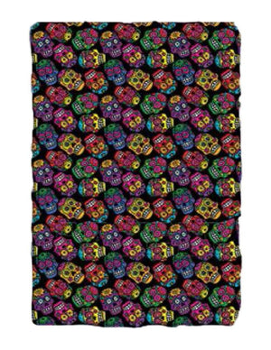 Day Of The Dead Fleece Blanket Throw Sugar Skull Cool Unique Gift