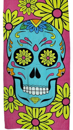 "Sugar Skull Beach Towel Sugar Skull 30""x 60"" Colorful Towel"