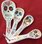 Day of The Dead, Dia de los Muertos, Sugar Skull, Ceramic, Measuring Spoons, New