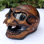 Skull Skeleton Visor Flip Up  Motorcycle Helmet GHOST RIDER Full Face  S - XXL