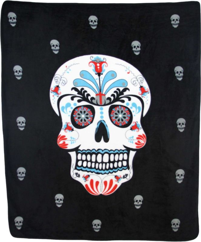 Sugar Skull Day of the Dead 50x60 Polar Fleece Blanket Throw Plush Soft