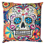 Decorative Throw Pillow Covers Sugar Skull Couch Pillows Cover 18 x 18 Inch