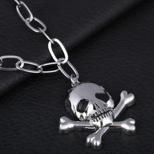 Long Necklace Vintage Punk Rock Chain Necklaces Man Skull Hand Stainless Steel Pendants Necklace Charms Man accessories