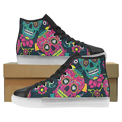 Skulls And Bones Light Up Women's Shoes Flashing Sneakers