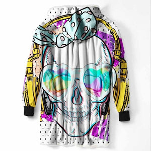 Fashion Cool Sugar Skull Hooded Blanket