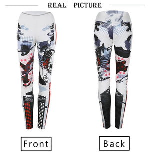 Skull 3D Print Fitness Leggings WOmen Sexy Leggings