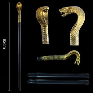1Set Egyptian Pharaoh Scepter Halloween Cosplay Scepter For Masquerade Party Skull Snack Head Cane Stick Props Party Tools S3