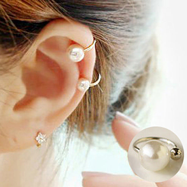 Ear Clip Invisibility Wrap Cartilage Cuff Stud Non Piercing Clip Earring For Women Jewelry