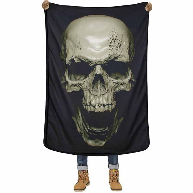 3D Blanket Clay Sculpture Skull 3D Quality Cover Comfortable Air Conditioning Soft Warm Thin Towel Blankets