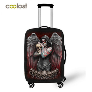 Dark Gothic Skull / Beauty Luggage Protective Cover Waterproof