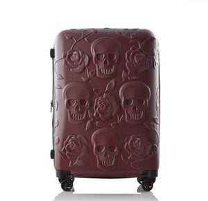 Travel Skull Luggage Cool Skull Luggage Suitcase Fashion Flower Women Or Men Suitcase Travel