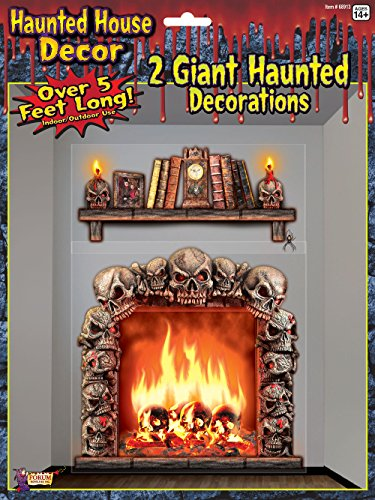 Forum Novelties Haunted House Indoor/Outdoor Fireplace Wall Decoration, 5', Multicolor