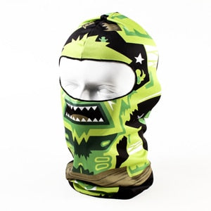 3D Animal Snowboard Bicycle Skull Cap Helmet Balaclava Headgear Hats Protection Winter Warmer Halloween Liner Full Face Mask