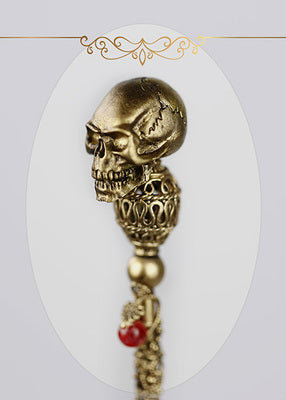 cane giant doll delicate skull size retro European double color gold and silver stick
