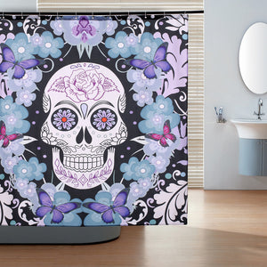 Skull Pattern Shower Curtain Polyester Fabric Shower Curtains Waterproof  Bath Curtain with Hooks Bathroom Products