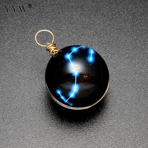 Necklace constellation symbols Retro luminous pendant punk Jewelry glowing in the dark necklace