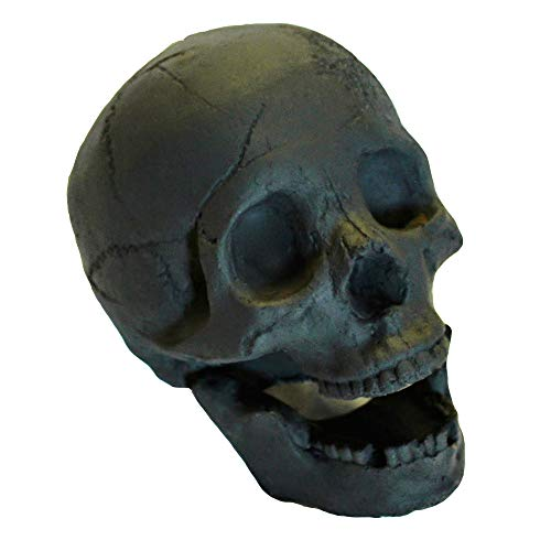 Myard Fireproof Human Fire Pit Skull Gas Log for NG, LP Wood Fireplace, Firepit, Campfire, Halloween Decor, Barbecue