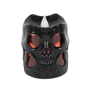 1pcs Skull Candle LED Night Light Halloween Party Decorative Creative Night Light Home Supplies Candle Lamp for Haunted House