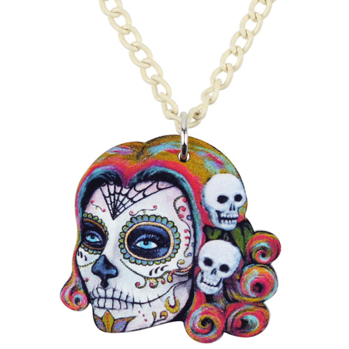 Skull Necklace Pendant Chain Fashion Punk Jewelry Charms