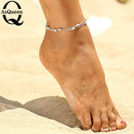 Sexy Gold silver plated Ankle Chain Anklets Bracelet New Charm Anklet for Women Vintage Foot Jewelry