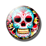 20 PCS Sugar Skull Day of The Dead 25MM Glass Cabochons
