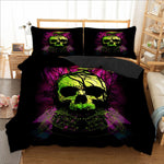 Green Skull bird Duvet Cover Bedding Set Twin Full Queen King Size 3PCS