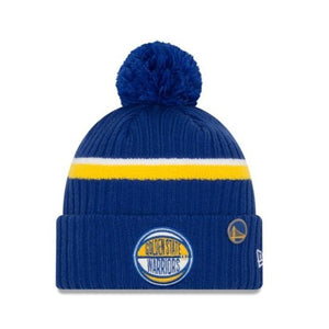 ACCESORII BARBATI NEW ERA Caciula NBA Draft Knit Golden State Warriors Albastru - vgeneration.ro