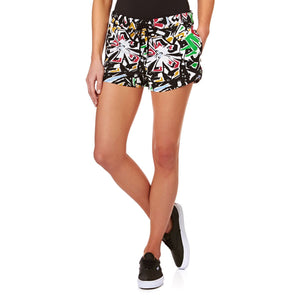 FEMEI VANS Pantaloni Scurti W Janek Short Black Multicolor - vgeneration.ro