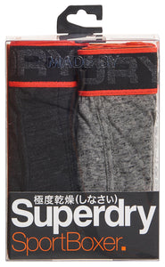 IMBRACAMINTE BARBATI SUPERDRY Lenjerie Intima Tipped Sport Boxer Double Pack Army - vgeneration.ro
