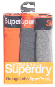 IMBRACAMINTE BARBATI SUPERDRY Lenjerie Intima Orange Label Sport Trunk Triple Pack Gri - vgeneration.ro