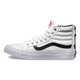Tenisi Sk8-Hi Slim Zip (Leather) Alb
