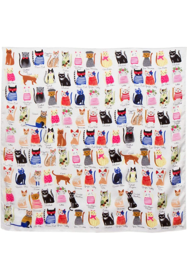 Cat Party Scarf - Eva Franco