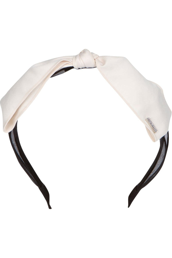 Cream Bow w/ Rhinestone Headband - Eva Franco