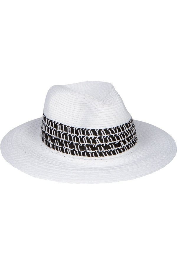 Havana White Straw Hat - Eva Franco