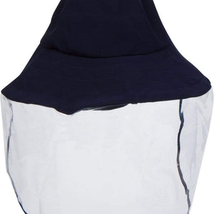 Navy Soft Brim Bucket Hat With Face Shield NON DETACHABLE