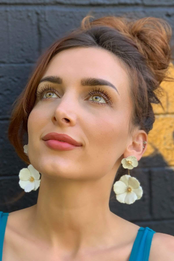 Two Tier Daisy Earring - Eva Franco